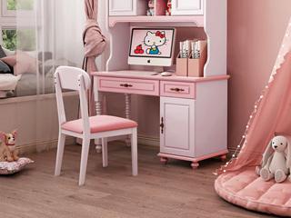 简美风格 优质橡胶木 皮艺 书椅