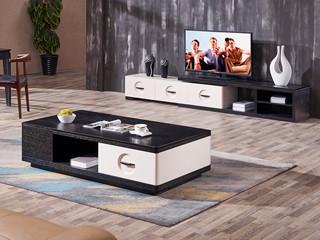 极简风格 实木抽屉 火烧石面 缓冲导轨 电视柜