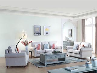 简美风格 优质麻布面料 百搭沙发组合(1+2+3)