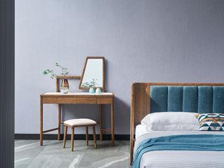 北欧风格 北美进口白蜡木 坚固实木框架 光滑细腻触感 妆台