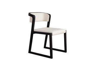 现代简约 北美进口白蜡木 西皮坐垫 餐椅