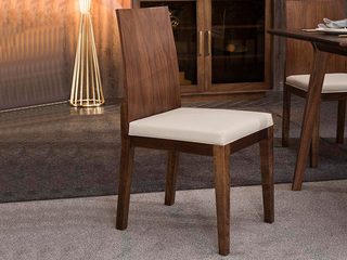 意式极简 坚固实木 皮艺餐椅(单把价格 需双数购买 单数需增加打包费用)
