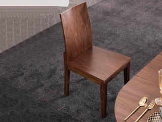 意式极简 坚固原木 餐椅(单把价格 需双数购买 单数需增加打包费用)