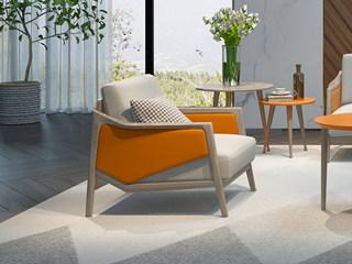 现代简约 精选白蜡木 时尚橙黄 贴心设计 防刮地面 角几组合