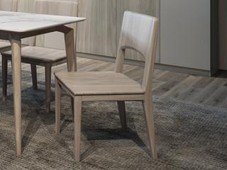 现代简约 北美进口白蜡木 全实木餐椅
