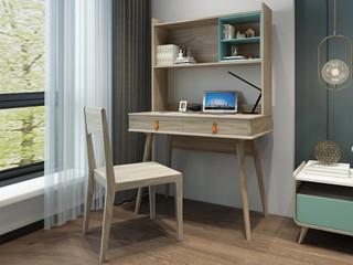 现代简约 北美进口白蜡木框架 组合书桌