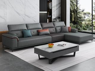 现代简约 科技布 (1+3+左贵妃)沙发组合