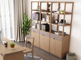 北欧风格 泰国进口橡胶木 书柜(单个)