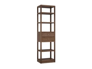 中式輕奢 黑胡桃色 金絲檀木 單門書柜