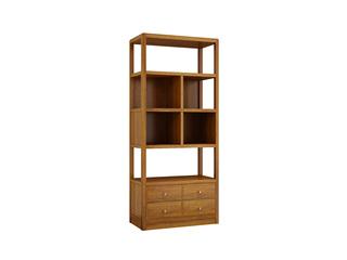 中式輕奢 金絲胡桃色 金絲檀木 雙門書柜