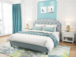 意大利进口头层黄牛皮 坚固耐用西伯利亚落叶松框架 精致拉点工艺 简美风格1.8米软床