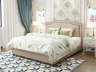 塞纳春天 真皮实木双人床 简美免安装便捷1.8米皮艺软床