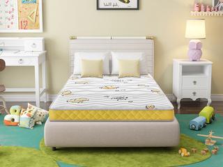 ·酷睡香橙1.2*2.0 邦尼爾彈簧護脊3D椰棕專業兒童15cm床墊