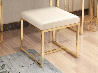 轻奢风格 优雅白 妆凳