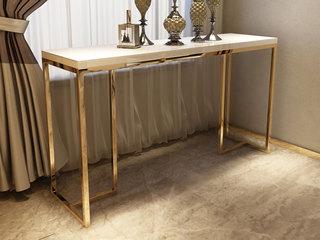 轻奢风格 优雅镀金支脚 优雅白 1.5m玄关台