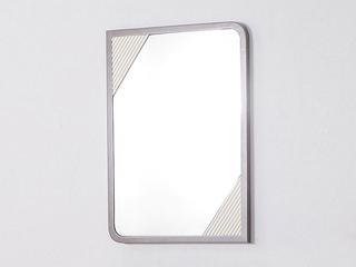 轻奢风格 白杨木 锣线工艺 大宝油漆 圆角梳妆镜