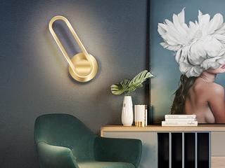 壁灯 现代简约 餐厅客厅 卧室壁灯 金色(含光源) 可330°旋转