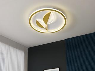 金色现代简约吸顶灯 金枝玉叶 客厅餐厅卧室灯(含光源)