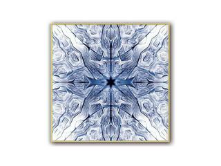 晶瓷+铝合金框 晶瓷画