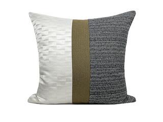 轻奢 肌理布 白色、灰色 花纹 抱枕