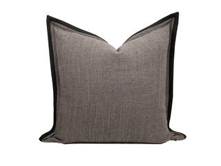 轻奢 肌理布 棕色 花纹 抱枕