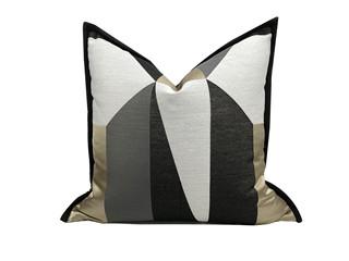 轻奢 肌理布 棕色、米色 花纹 抱枕