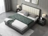 艺家 现代简约 雅白色皮 靠背接触面优质超纤皮 储物抽屉设计长1.2*2米HB-1701板木高箱床(008靠枕)床