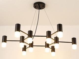 后现代 简约黑色吊灯 12头 (含G9暖光5W)