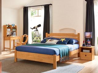 现代简约 泰国进口橡胶木 6601床头柜