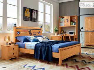 现代简约 泰国进口橡胶木 6602床头柜