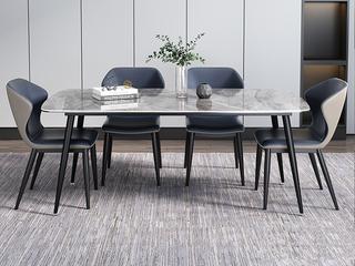 极简 意大利深灰奢石 1.3米 餐桌