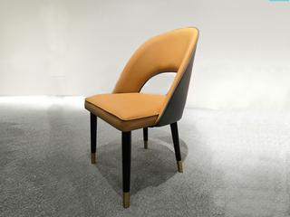 轻奢 环保纳帕皮/橡木脚 餐椅