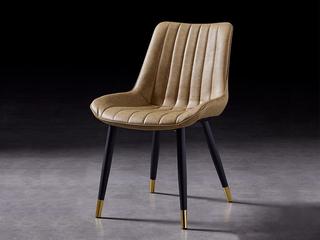 轻奢 环保皮/黒砂 餐椅