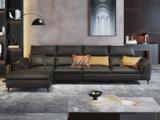 卡罗亚 现代极简  优质科技布面料 转角沙发(1+3+右贵妃)