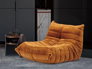 轻奢风格 高弹舒适 不变形 休闲椅