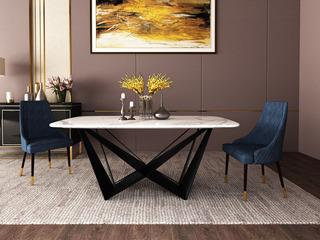 极简 大理石 1.8米 餐桌