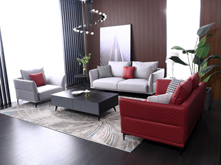 科技布 松木底架 现代简约 沙发组合(1+2+3)