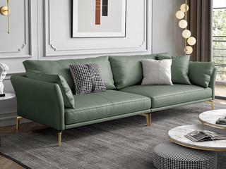 轻奢风格 超柔舒适 优质科技皮 四人位沙发