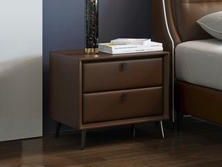 現代簡約 咖啡色 床頭柜