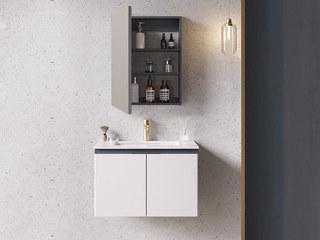 【包邮 送货到家】 现代简约风格 岩板台面 多层防水板材 70CM 浴室柜套装(龙头需单独购买)