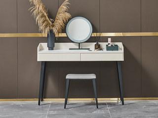 潮品系列 Z-605白色妆台+妆凳+妆镜