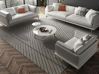 轻奢风格 全实木框架 羽绒公仔包 双人位 仿真皮沙发