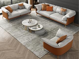 轻奢风格 全实木框架 双人位 布艺沙发