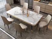 慕梵希 轻奢风格 碳素钢+大理石 1.4米 餐桌