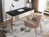 慕梵希 轻奢 岩板 书桌(长1400mm)