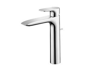 铜合金台式 冷热水高脚加高款 单柄双控洗面器水嘴(单孔)