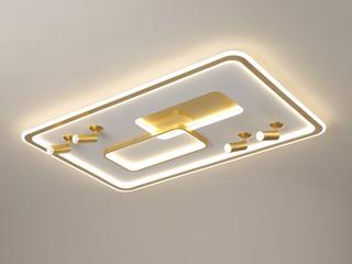 【包邮 偏远地区除外】 轻奢风格 铁艺+亚克力XM2011 金色 1100700四头射灯 无极调光 吸顶灯(含光源 LED188W)