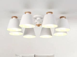 【包邮 偏远地区除外】 现代简约 LED 白色吊灯10头客厅书房卧室灯具(含光源)