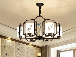 【包邮 偏远地区除外】 新中式纯手工工艺 6头吊灯 客厅餐厅书房灯具(含光源)