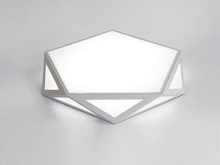 【包邮 偏远地区除外】 现代 铁艺+亚克力 白色 三色光 吸顶灯(含光源 LED45W)